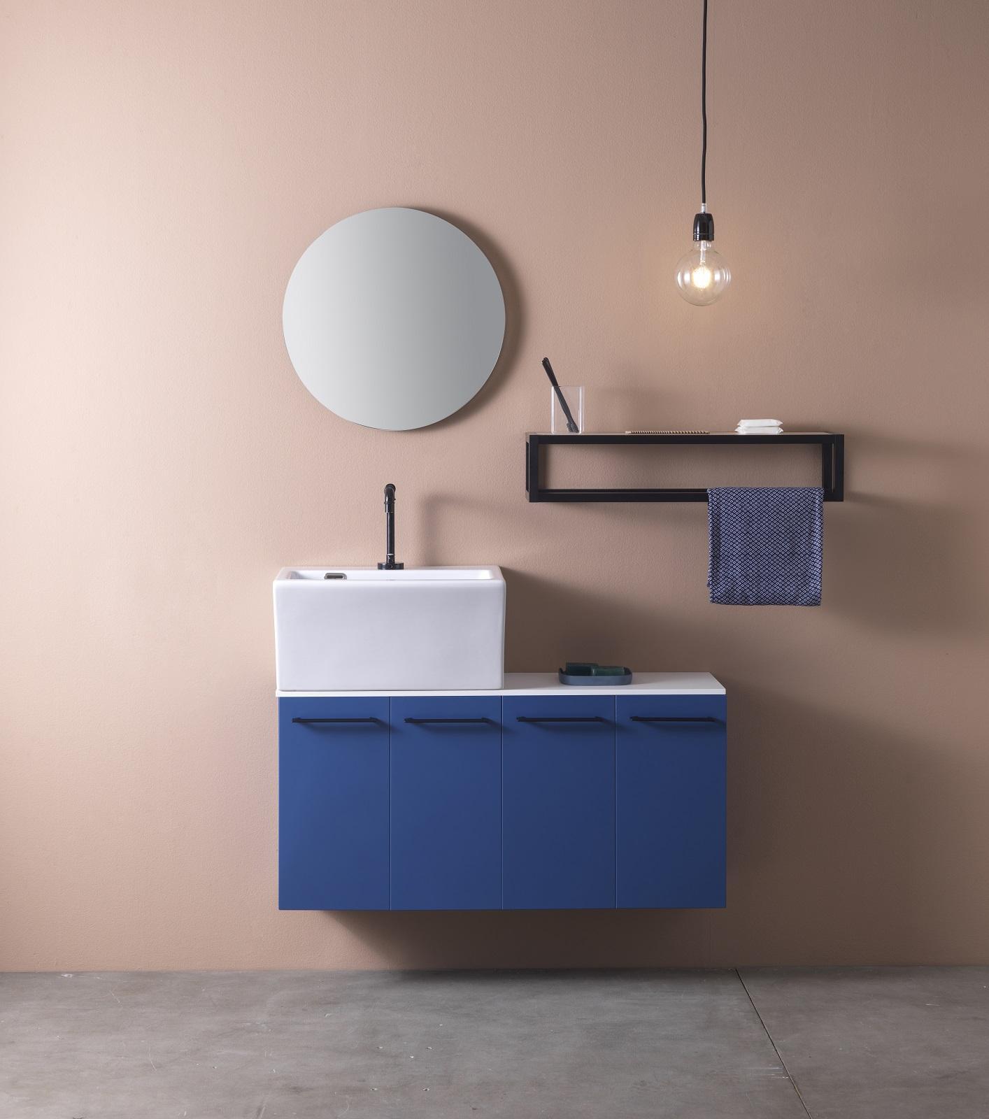 Mobili bagno piccoli con lavabo bianchi in legno o for Mobili piccoli bagno