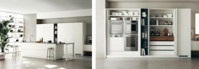scavolini A e B Foodshelf_16 1 cucina con soluzione salvaspazio