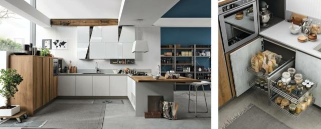 Stosa A e B Infinity Diagonal Comp12 Cucina con soluzione salvaspazio
