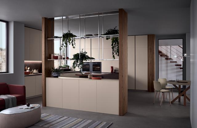 soggiorno e cucina con arredi uguali venetaCucine Lounge
