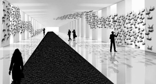 A Palazzo Bocconi Azimut presenta Voliumani, . E' un volo leonardesco, il sogno dell'uomo che attraverso il suo operato si pone al centro del mondo, pronto per nuove sfide. L'inaugurazione si terrà in occasione dell'avvio del Fuorisalone 2019, il 9 aprile alle ore 19, e sarà visitabile fino al 29 aprile.
