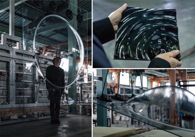 AGC sperimenta uno spazio emotivo in cui vetro e ceramica convergono, utilizzando l'esclusiva tecnologia di elaborazione e stampaggio per produrre un'istantanea di fenomeni naturali in continua evoluzione. I visitatori potranno sperimentare la bellezza della natura creata con artefatti.