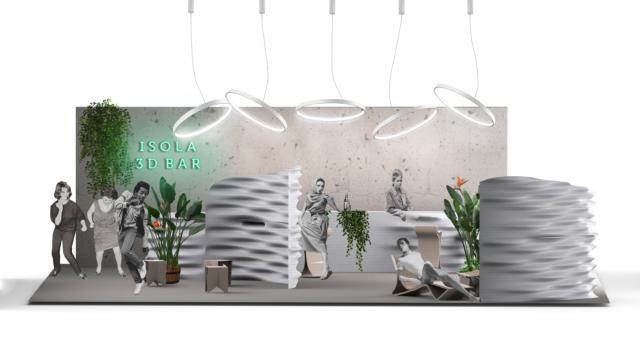Isola Design District - Fuorisalone 2019 - Caracol Studio - 3D Printed Bar1