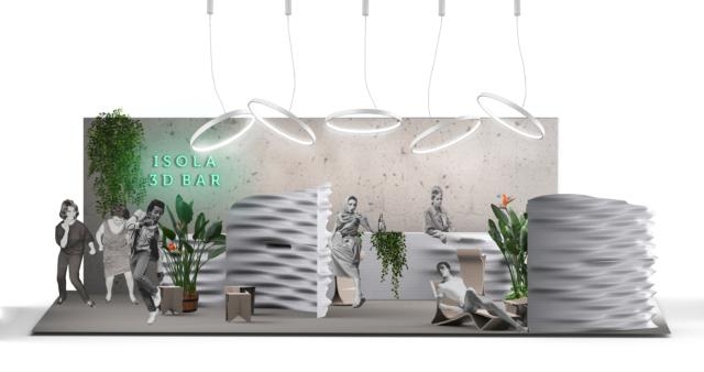 Isola Design District - Fuorisalone 2019 - Caracol Studio - 3D Printed Bar1