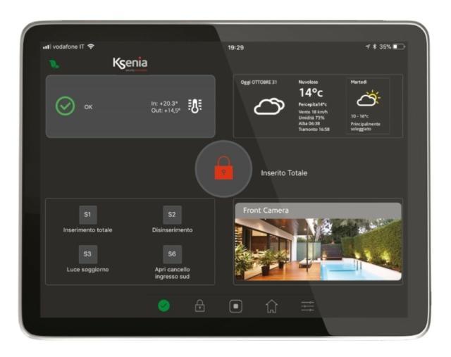 Sistema di Allarme - sicurezza casa - DIAS-tastiera touchscreen lares 4.0