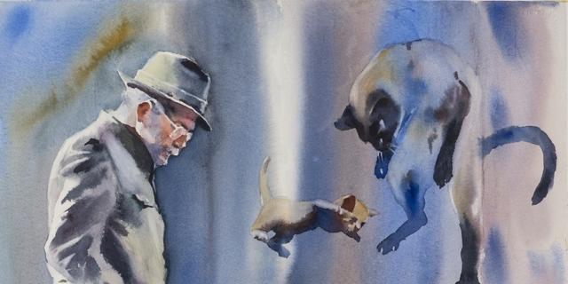 Andrey Esionov. Neo-nomadi e Autoctoni, acquerelli