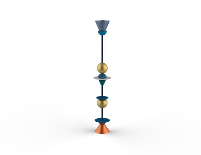 Dos - Design Open' Spaces - Fuorisalone 2019 - Geometric Lamp Riccardo Grancini (1)