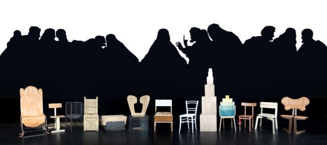 La Repubblica del Design - Fuorisalone 2019 - Bovisa - Le tredici sedie mai dipinte nell'ultima cena di Leonardo 2013 - Collezione MAC Lissone