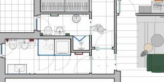 Ricavare il secondo bagno: progetto in pianta