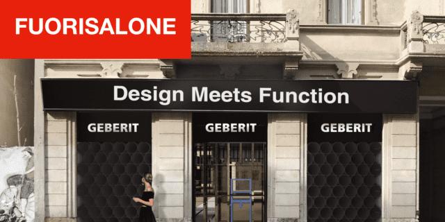 Geberit al Fuorisalone 2019 con l'installazione Design Meets Function
