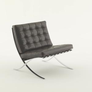 Knoll Poltrona in pelle nera Barcelona® Chair Designed by Ludwig Mies van der Rohe