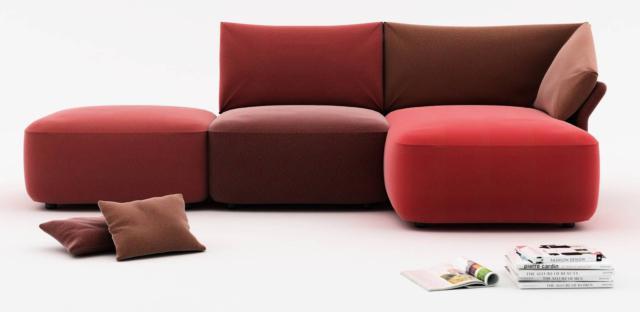 Ibis di Calia Italia, design Studio Pastina, è il divano modulare estremamente confortevole grazie alle abbondanti imbottiture rivestite in tessuto sfoderabile, anche bicolore, con cuciture a vista. I piedini a scomparsa sono in Pvc. www.caliaitalia.com