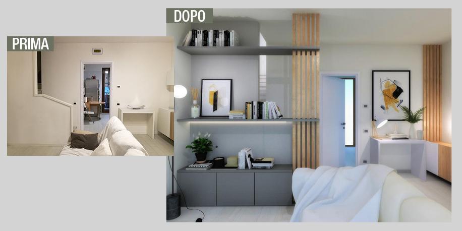 Progetti 3d trasformare una parete anonima in uno sfondo for Progetti 3d