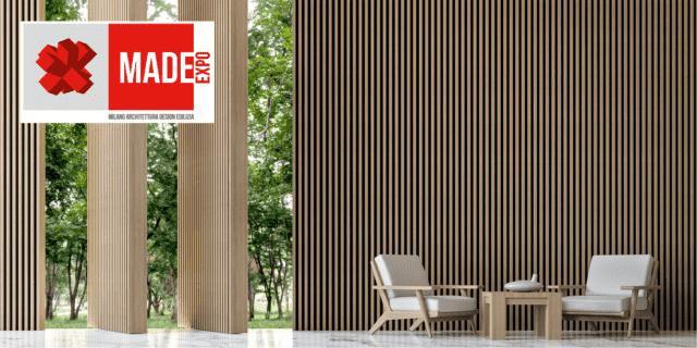 Esterno elegante come un interno a MADE Expo con il rivestimento 3D Twix di Déco