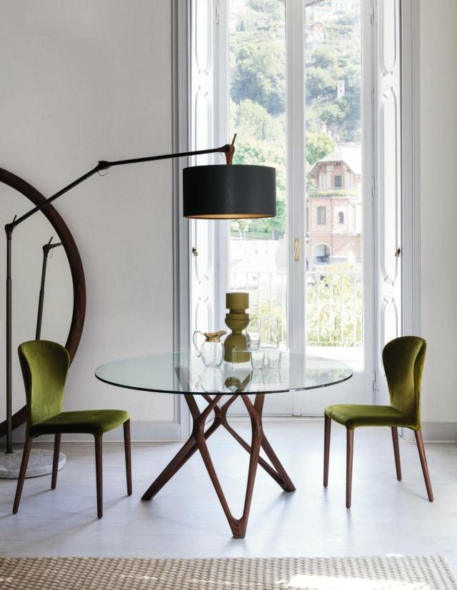 porada circe tondo tavolo living in stile anni cinquanta