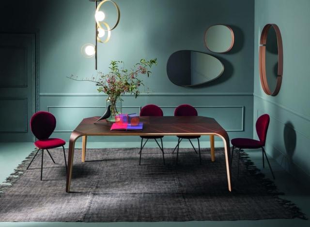 riflessi unico tavolo living in stile anni cinquanta