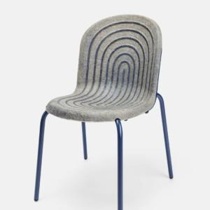 Halo del tedesco Studio Philipp Hainke, sedia con seduta a base di canapa e di caseina, 2° classificato al SaloneSatellite Award.