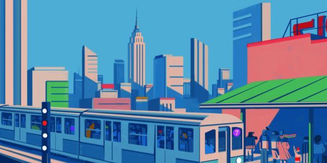 Emiliano Ponzi. The Great New York Subway Map – La Grande Mappa della Metropolitana di New York