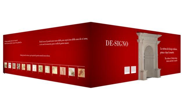 DE-SIGNO è l'installazione immersiva ideata da Davide Rampello e progettata dall'architetto Alessandro Colombo, omaggio all'ingegno e all'opera di Leonardo Da Vinci. Un'opera imponente che coniuga in modo coinvolgente i linguaggi del cinema e della scenografia teatrale, in cui il visitatore sarà immerso in uno show di musica e immagini. Visitabile dal 9 al 14 aprile 2019 in Fiera presso il Padiglione 24.