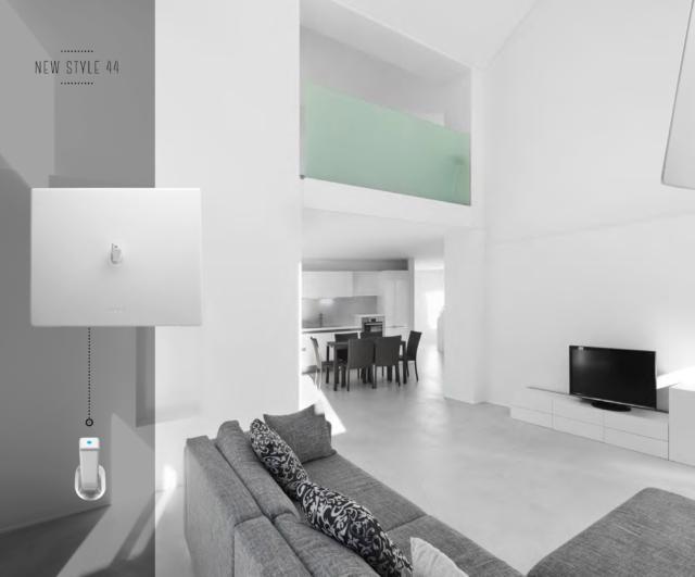 Interruttori a levetta AVE New Style 44: un'idea minimal per spazi luminosi