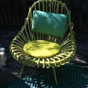 Allestimento outdoor, poltroncina Giunco