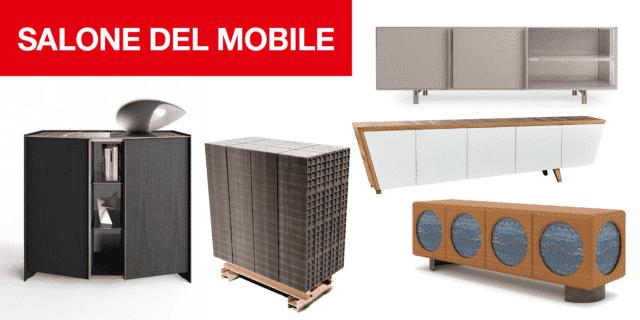 Mobile per il soggiorno: sistemi, madie, cassettiere a iSaloni 2019