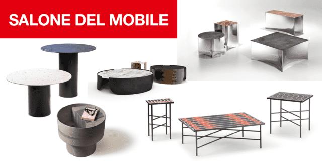 Design dal Salone del Mobile 2019: tavolini in legno, marmo, vetro, ceramica…