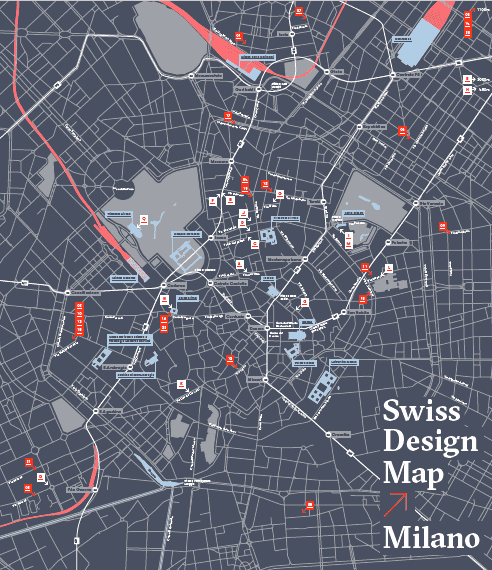 Swiss Design Map Milano - Fuorisalone 2019