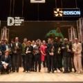 Foto di gruppo dei dieci progettisti premiati con la Golden Madonnina del The Design Prize 2019