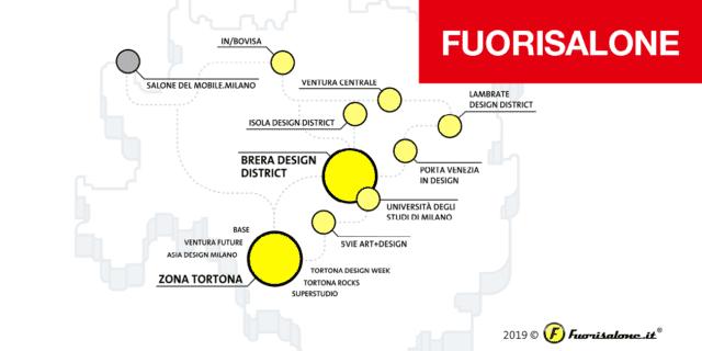 fuorisalone 2019 mappa