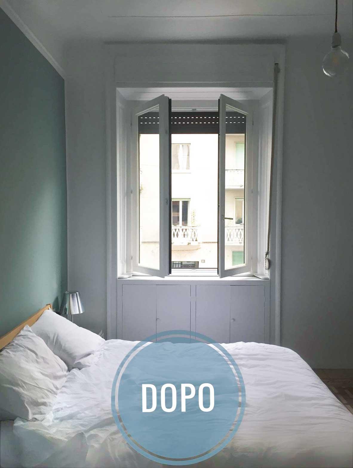 Nuovo look per la camera cambiando solo pochi elementi cose di casa - Parete testata letto dipinta ...