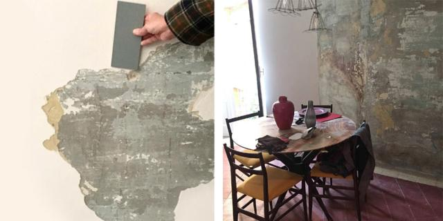 Da muro rovinato a parete decorata: relooking con sorpresa