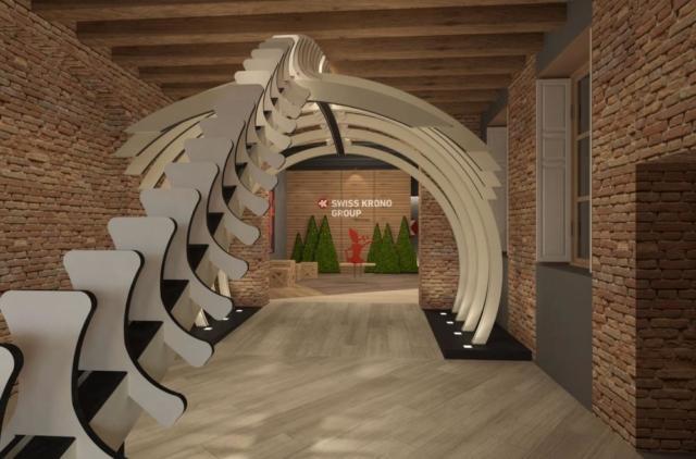 Swiss Krono partecipa al Fuorisalone con tutto il gruppo Swiss Krono Group con l'installazione Be Swisstainable.