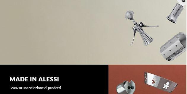 Made in Alessi: sconto del 20% on line e negli store