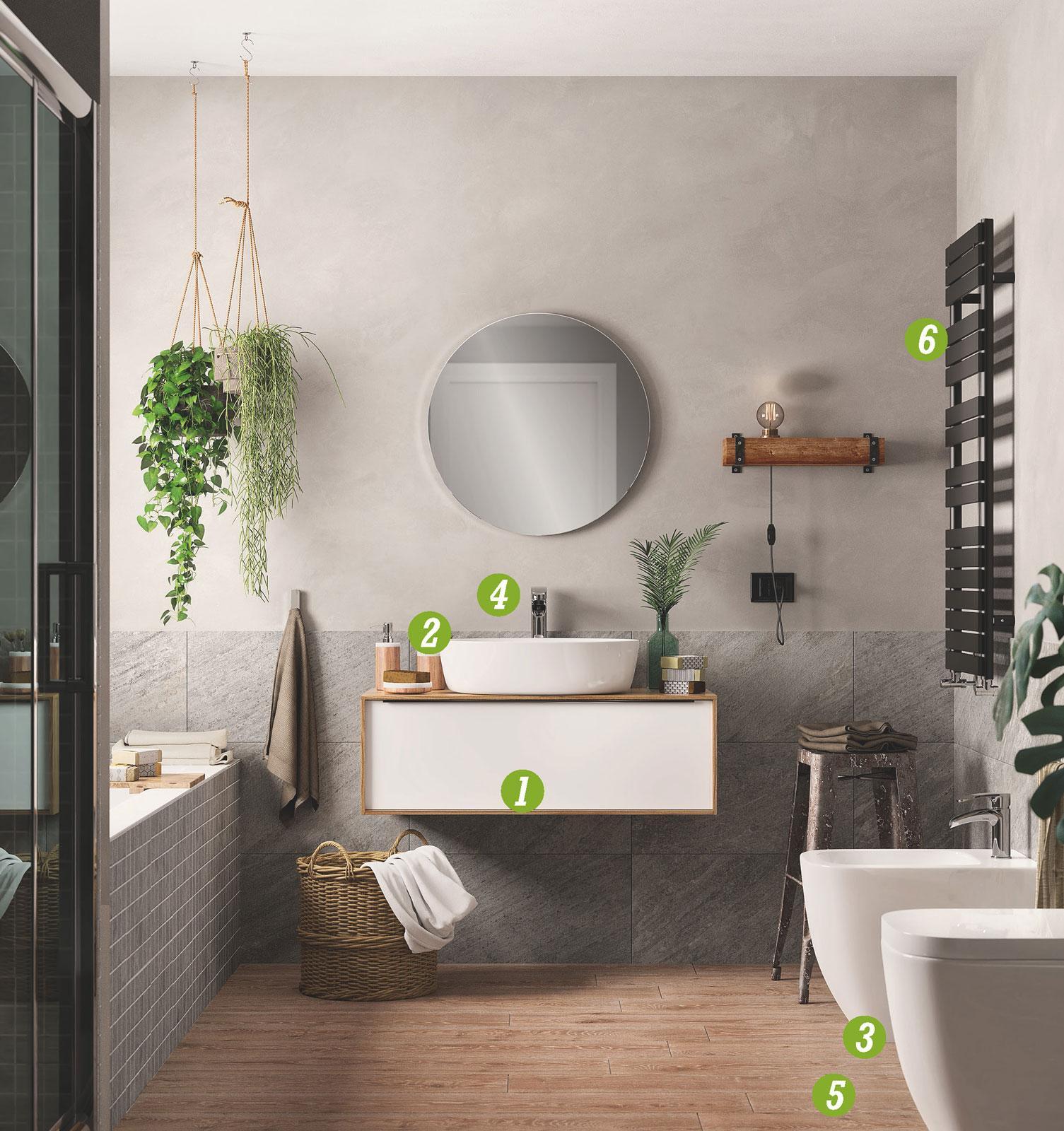 Bagno hygge lo stile danese che fa tendenza cose di casa for Miscelatori vasca da bagno leroy merlin