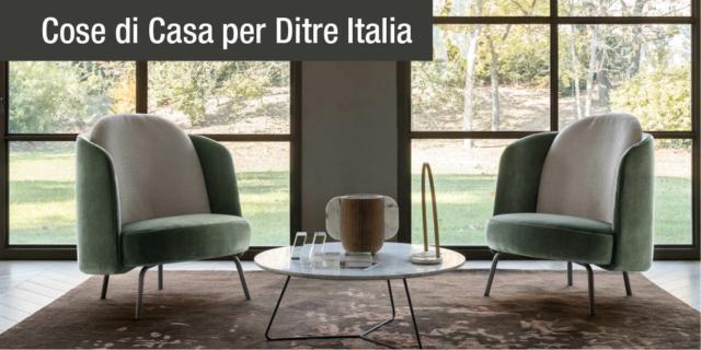 Poltrona Lucia di Ditre Italia, il design femminile dall'eleganza senza tempo