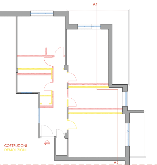 Ipotesi 1 - demolizioni costruzioni