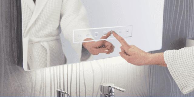 specchio bluetooth per scoltare la musica in bagno
