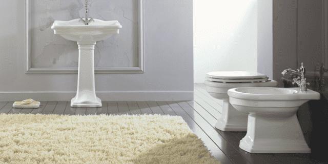 Sanitari classici per un bagno elegante e dal fascino rétro