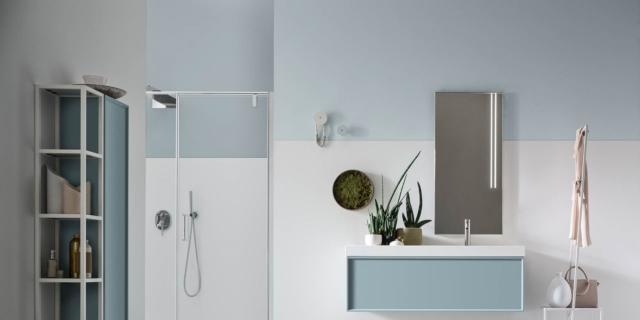 Mobili lineari, a sviluppo orizzontale, per il bagno moderno