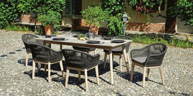 Tavoli per esterno con sedie, per giardino o balcone