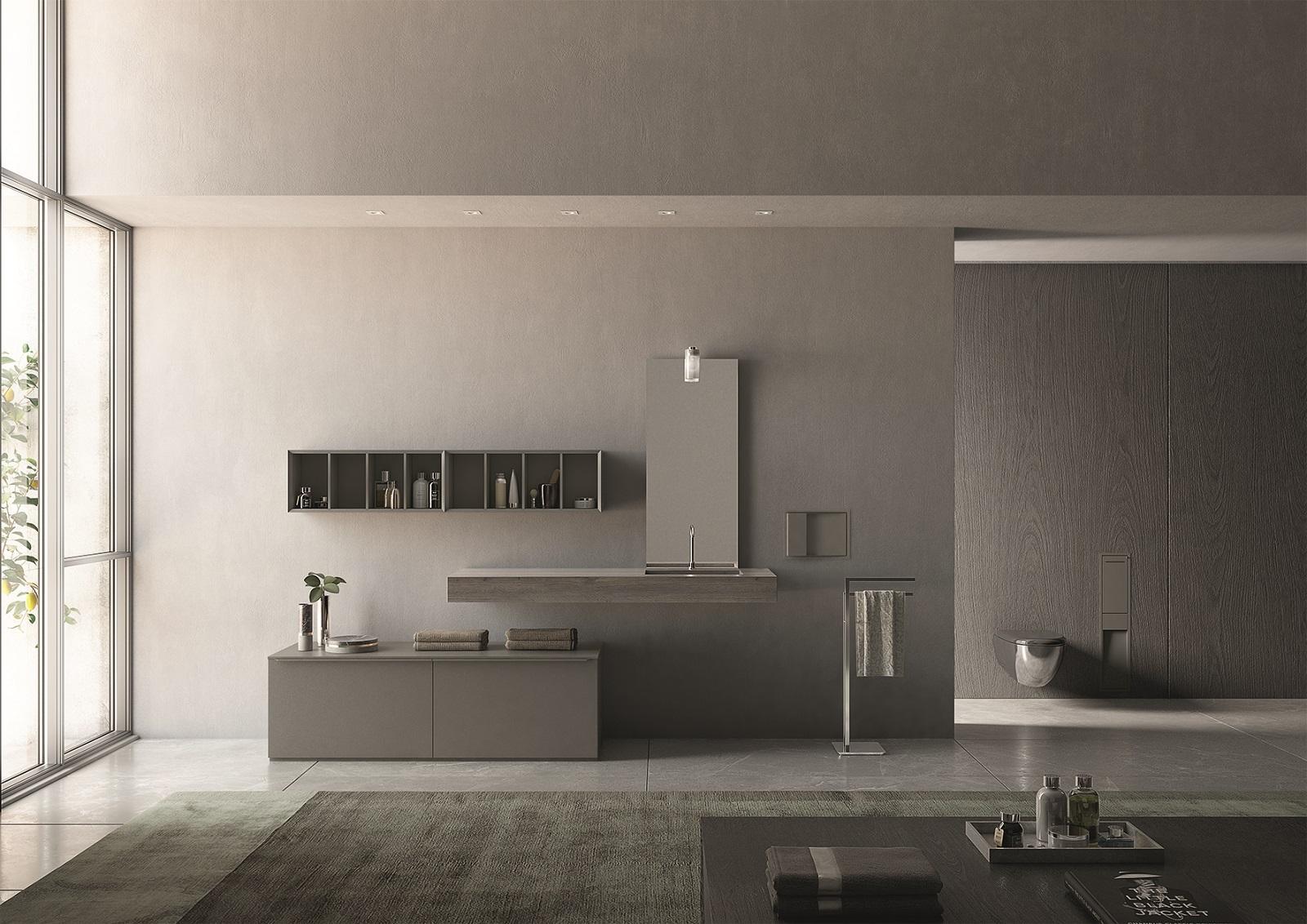 Immagini Di Bagni Moderni mobili lineari, a sviluppo orizzontale, per il bagno moderno