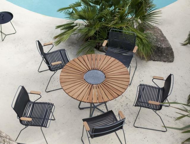 madeindesign circle Houe e click tavolo e sedie per esterno