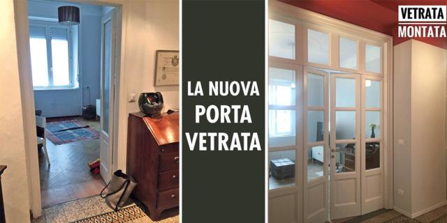 Una vetrata tra ingresso e soggiorno cambia totalmente l'effetto