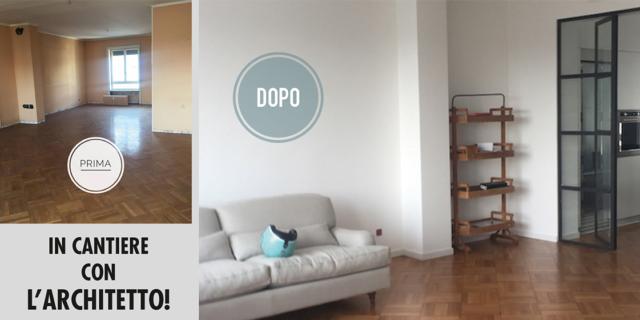 Unire due appartamenti: una casa per una famiglia con 4 figli