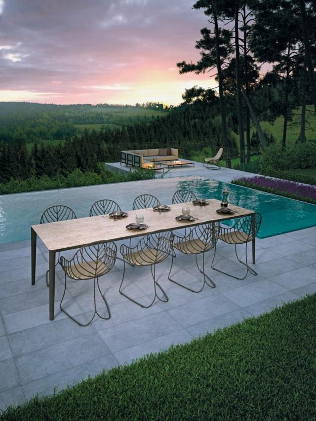 royalbotania u-nite e folia tavolo e sedie per esterno