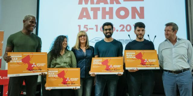 I vincitori della Design Marathon, organizzata da Mitsubishi Electric con NABA