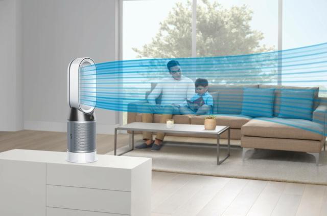 Dyson Pure Hot+Cool è la soluzione ideale per chi, con un solo apparecchio, vuole purificare efficacemente l'aria di casa, ma anche raffrescare e riscaldare all'occorrenza.