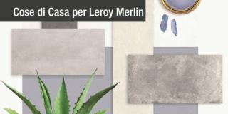mood board leroy merlin pavimenti effetto cemento