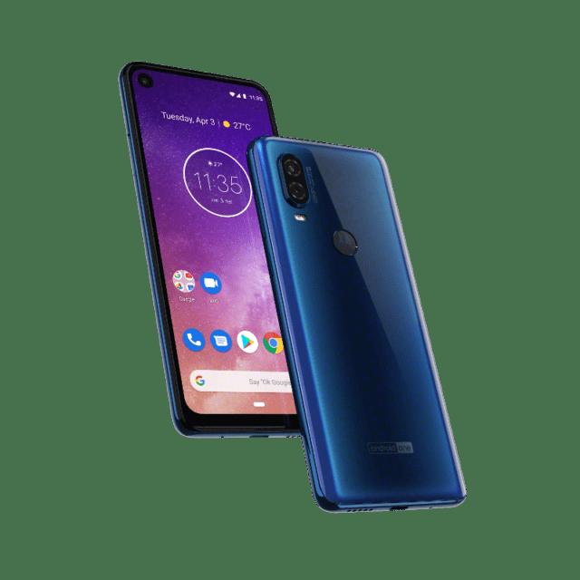 Motorola one Vision_ROW_Saphire Gradient_PDP Hero Smartphone 2019